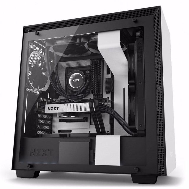 NZXT H200i No Power Supply Mini-ITX Case w// Lighting and Fan Control Matte