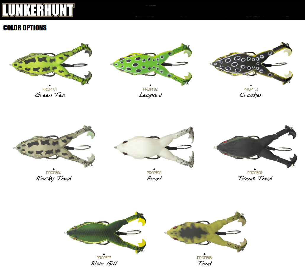 Lunkerhunt prop frog 2018 color chart bass fishing pinterest baits lures frogs rats lunkerhunt colour chart2018 colorbass fishingchartsgraphics nvjuhfo Image collections