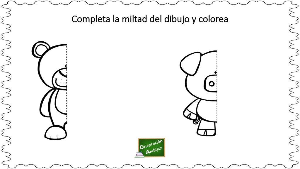 Trabajamos La Lateralidad A Traves De La Simetria Completa El Dibujo Y Colorea Orientacion Andujar Lectura De Comprension Simetria Dibujo De Escuela
