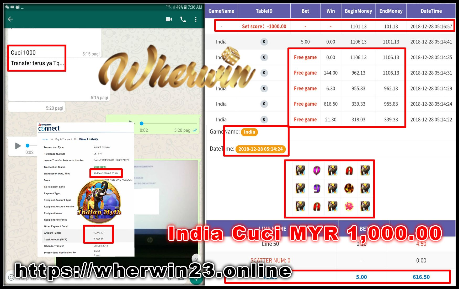 Wherwin23 is 1 online Casino site in Malaysia and offers