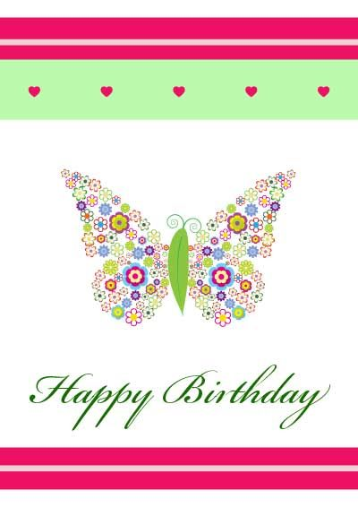Wow these were really free no signing up and they are pretty – Printable Birthday Card