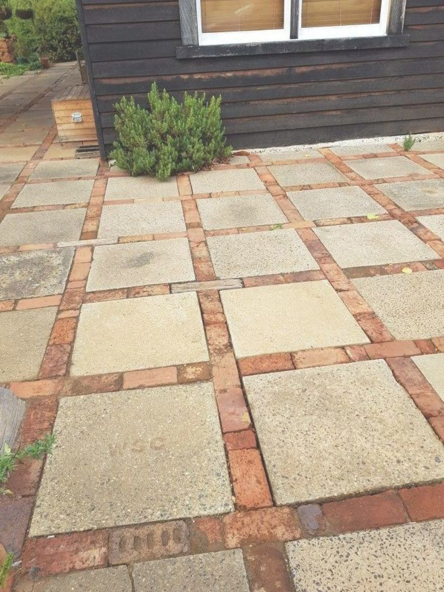 This is a very simple and inexpensive solution to a patio