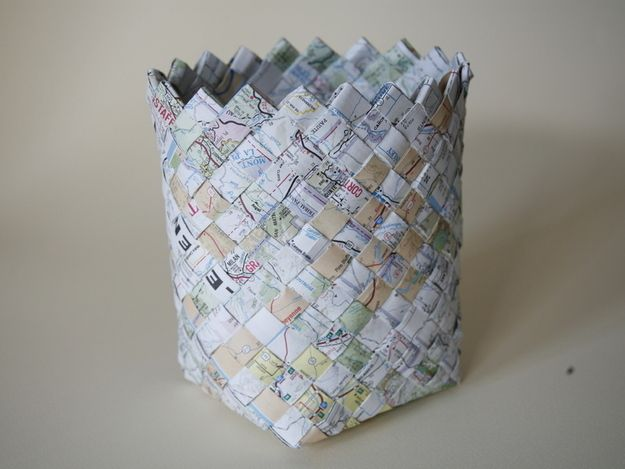 Make a basket (to hold all your acceptance letters!) out of the