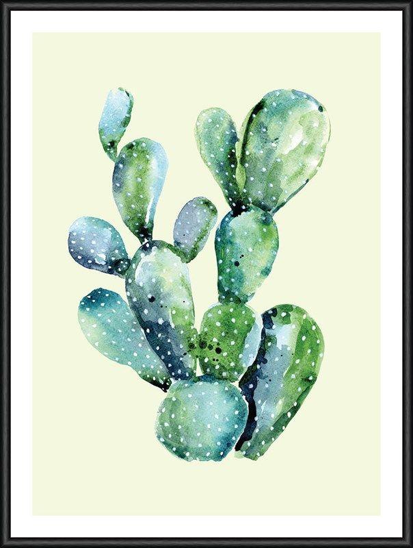 Heaven on 3rd Kaktus 30x40 | Aquarell