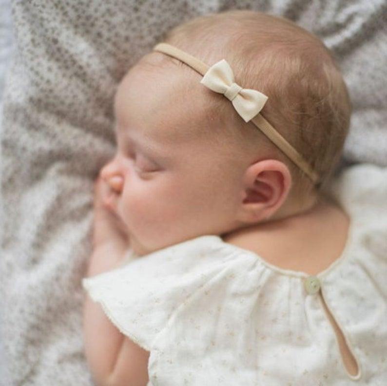 Headband Bow Premie Headband Baby Girl Bows Baby Girl Gift Newborn Baby Headband Premie Newborn Headband Felt Bows