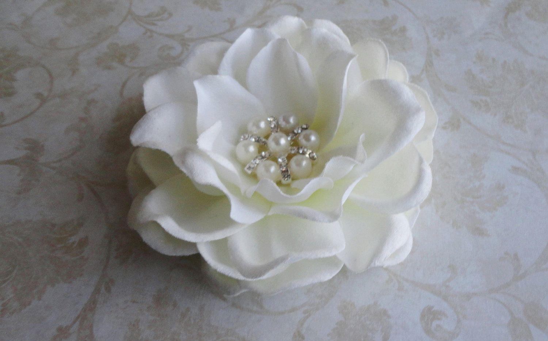 Bridal Flower Hair Clip Bridal Hairpiece Flower Fascinator Bridal