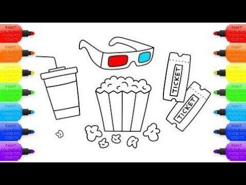 Cómo Dibujar El Kit Para El Cine Set De Páginas Para Colorear