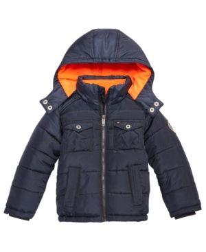 4ffa89db Tommy Hilfiger Alexander Hooded Puffer Jacket, Baby Boys (0-24 months) -  Blue 12 months