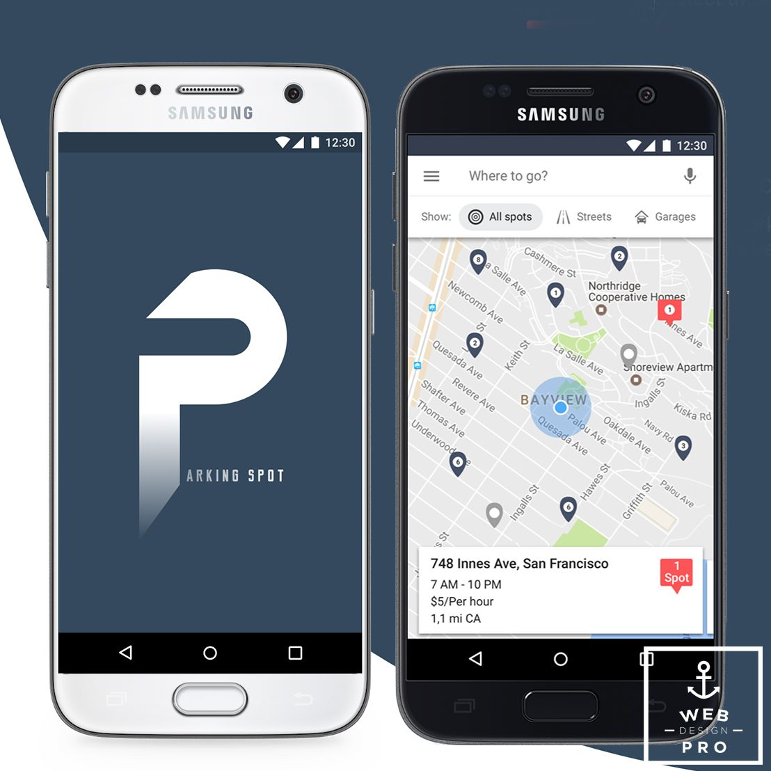 Parking Spot Mobile App  An app to search the nearest and