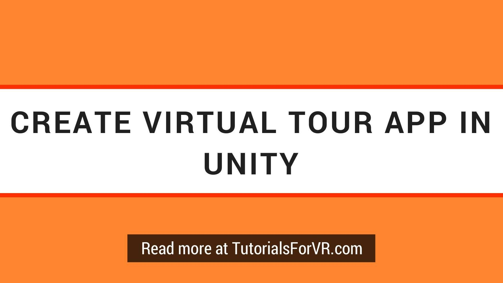 Create Virtual Tour App in Unity with Hotspots in VR | 3d