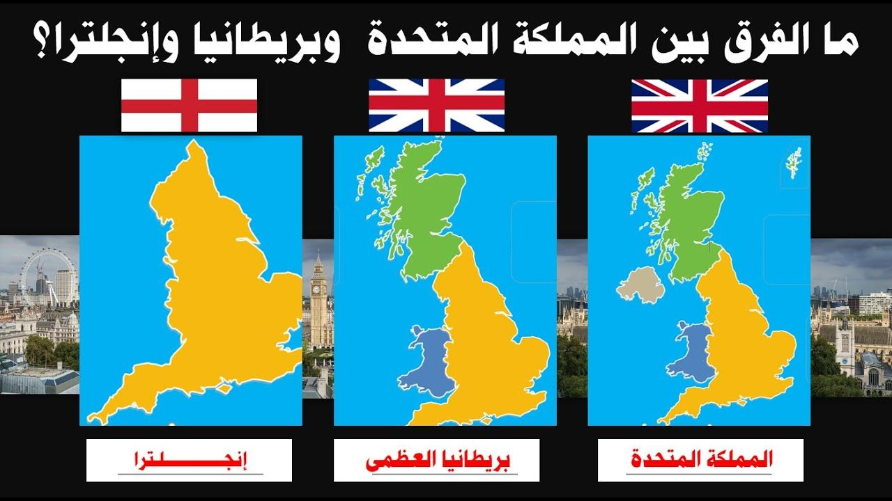 ما الفرق بين انجلترا وبريطانيا والمملكه المتحدة Gaming Logos Education Logos