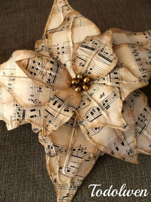 Einfach, romantische Noten Dekorationsprojekte zu machen - DIY Vintage Decor Ideas - Cool ideen #musicdecor