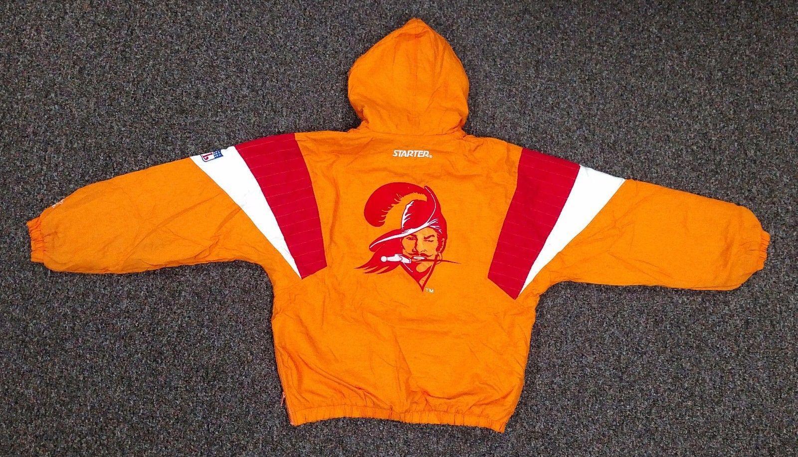 1c59522d Vintage 90s Tampa Bay Buccaneers NFL Hooded Pullover Starter Jacket ...