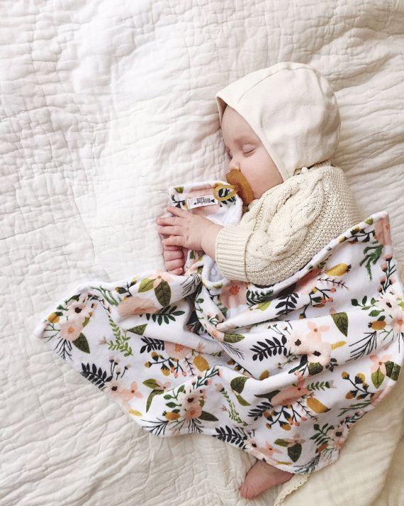 Blush Blooms Snuggle Blanket | Etsy