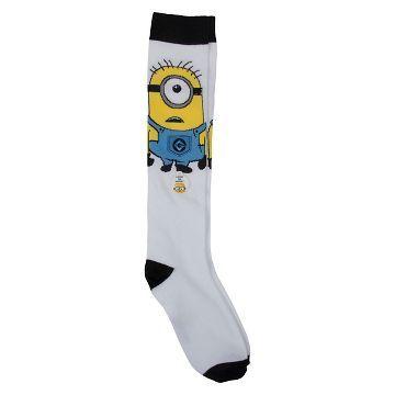 b93491ceb01 Women s Minion Eye 3D Knee High Socks - White 9-11