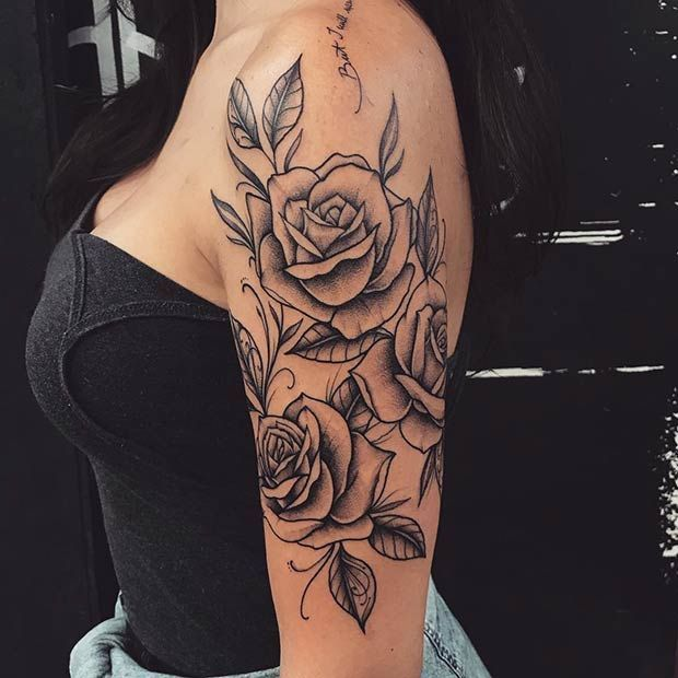21 Rose Shoulder Tattoo Ideas For Women – Tattoos – Tattoo