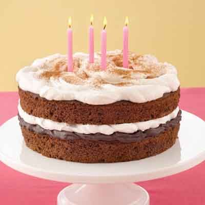 Astonishing Cinnamon Fudge Birthday Cake Recipe Cake Recipes Cake Land Funny Birthday Cards Online Alyptdamsfinfo