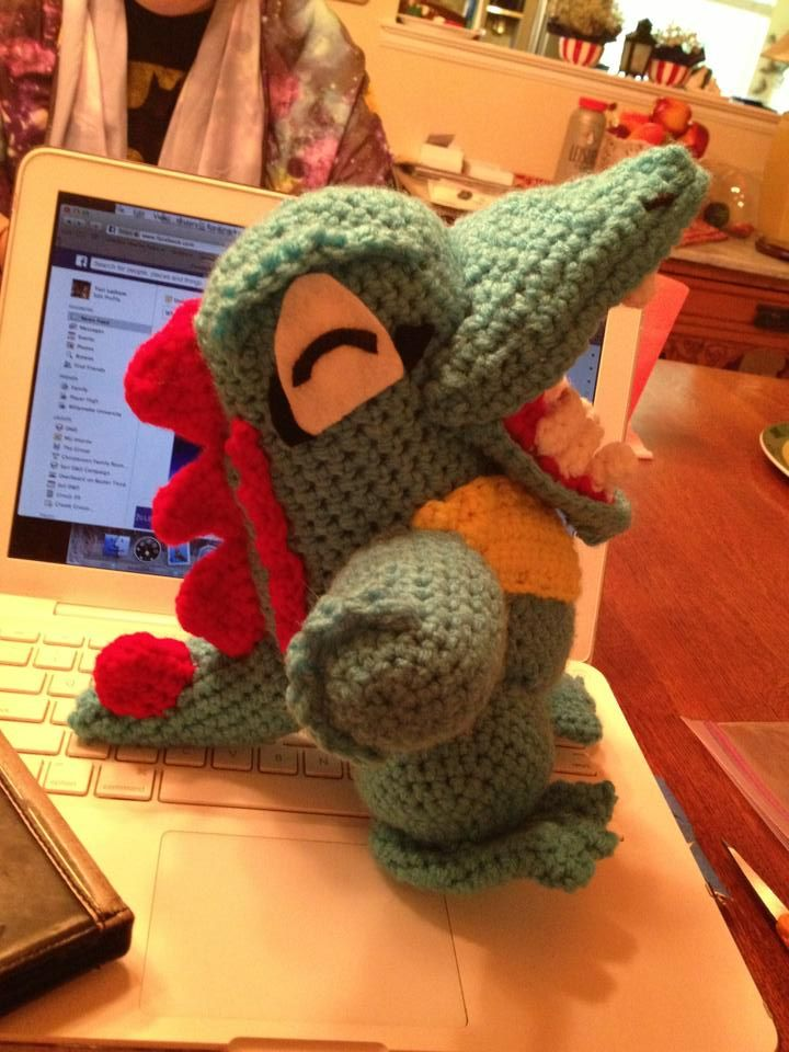 Finally found a free totodile crochet pattern! One day I shall make ...