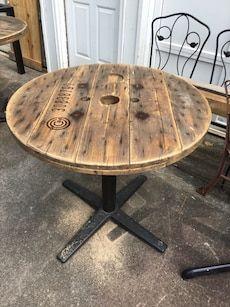 Used Spool Top Table For Sale In Woodstock Letgo Wood Spool