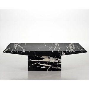 Marble Coffee Table Black Travertine Marble Monaco Nero Marble Coffee Table Stone Coffee Table Black Marble Coffee Table
