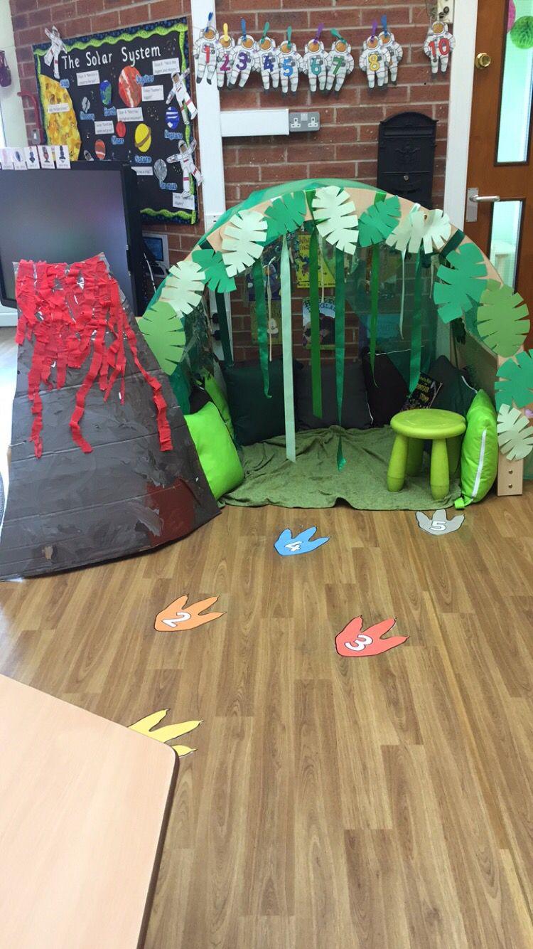 Classroom door & Dinosaur book corner cave | Dramatic play | Pinterest | Book ... Pezcame.Com