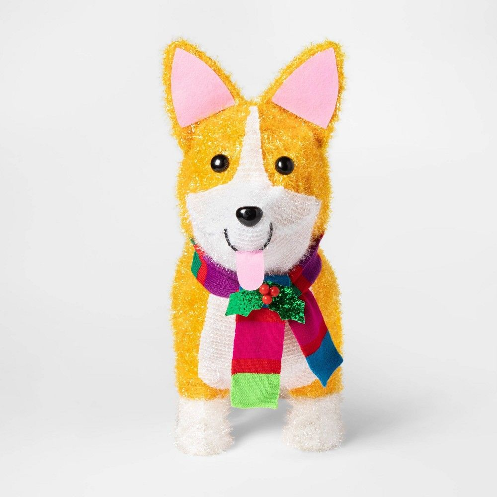 Get Free Shipping From Target Read Reviews And Buy Christmas Incandescent Tinsel Corgi Dog Novelty S Corgi Dog Outdoor Christmas Outdoor Christmas Decorations