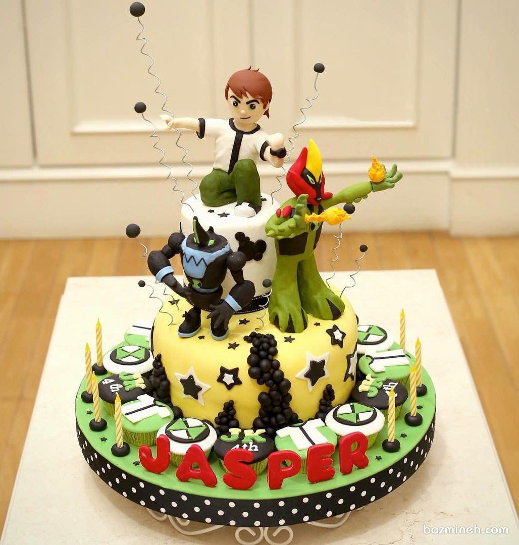 کیک فوندانت جشن تولد پسرونه با تم بن تن Ben 10 Cake Cake Sweet Treats