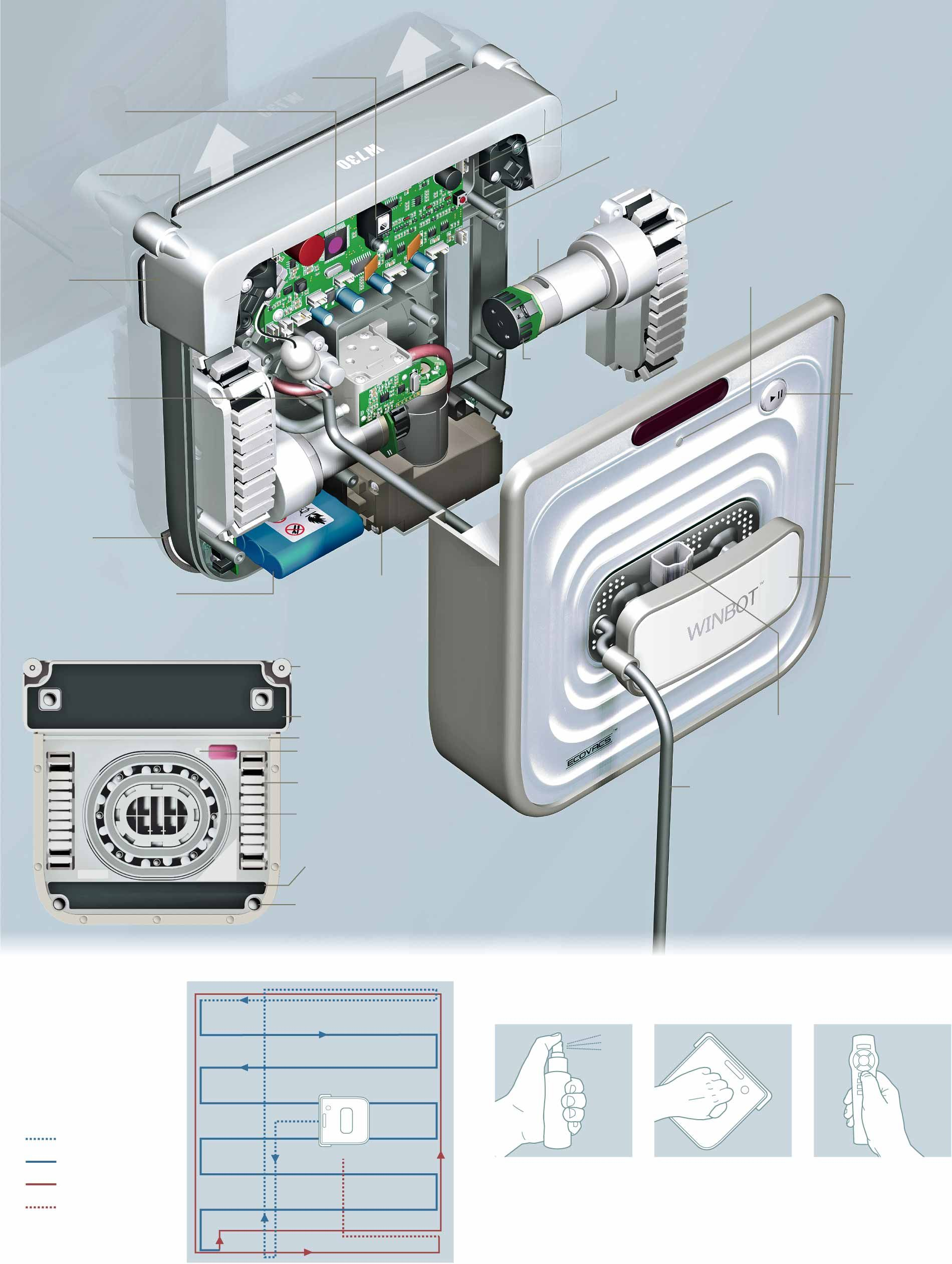 Robot Lavavetri Winbot.Inside The Winbot 730 A Robotic Window Cleaner Graphic