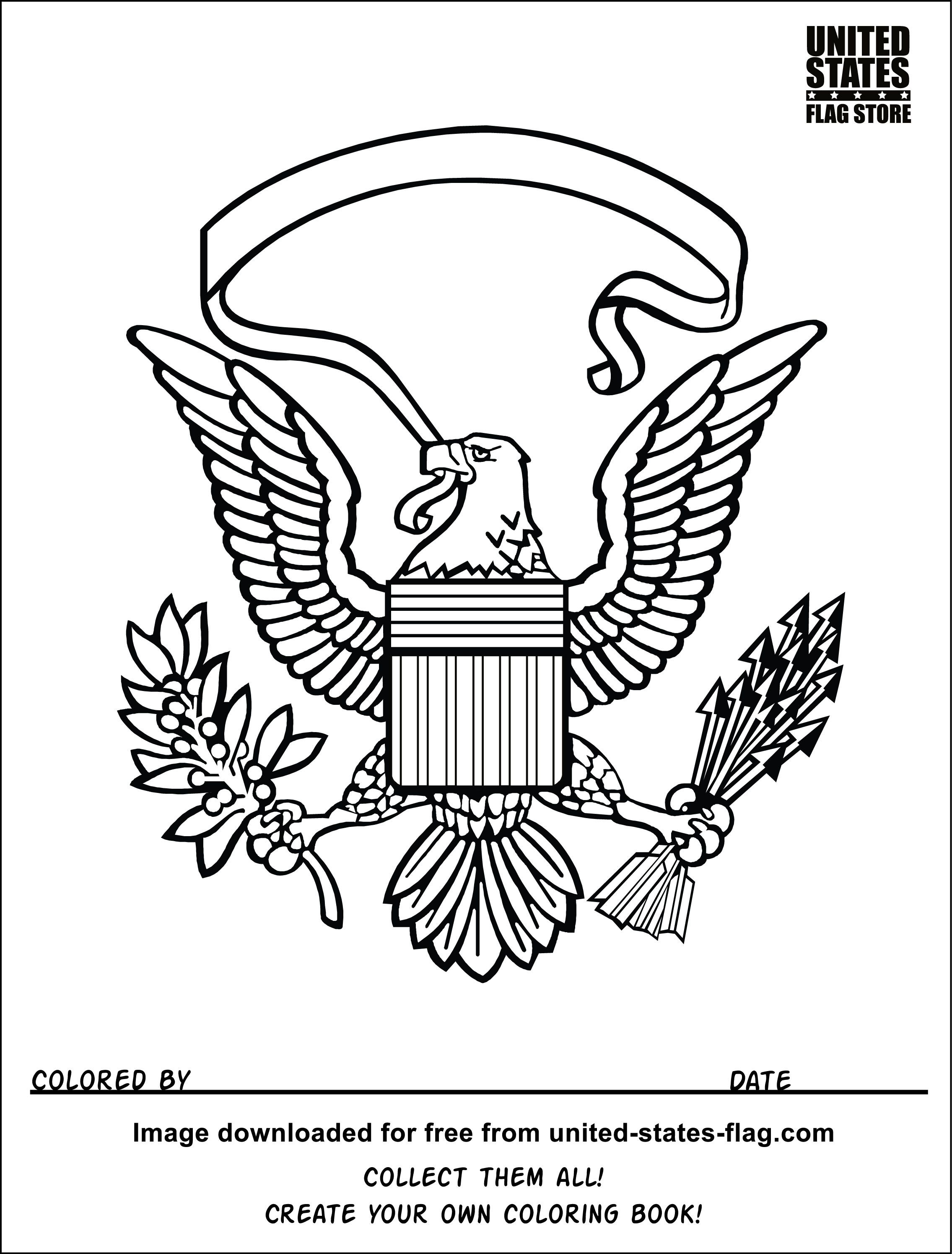 American Flag Eagle V8 Coloring Book American Flag Coloring Page