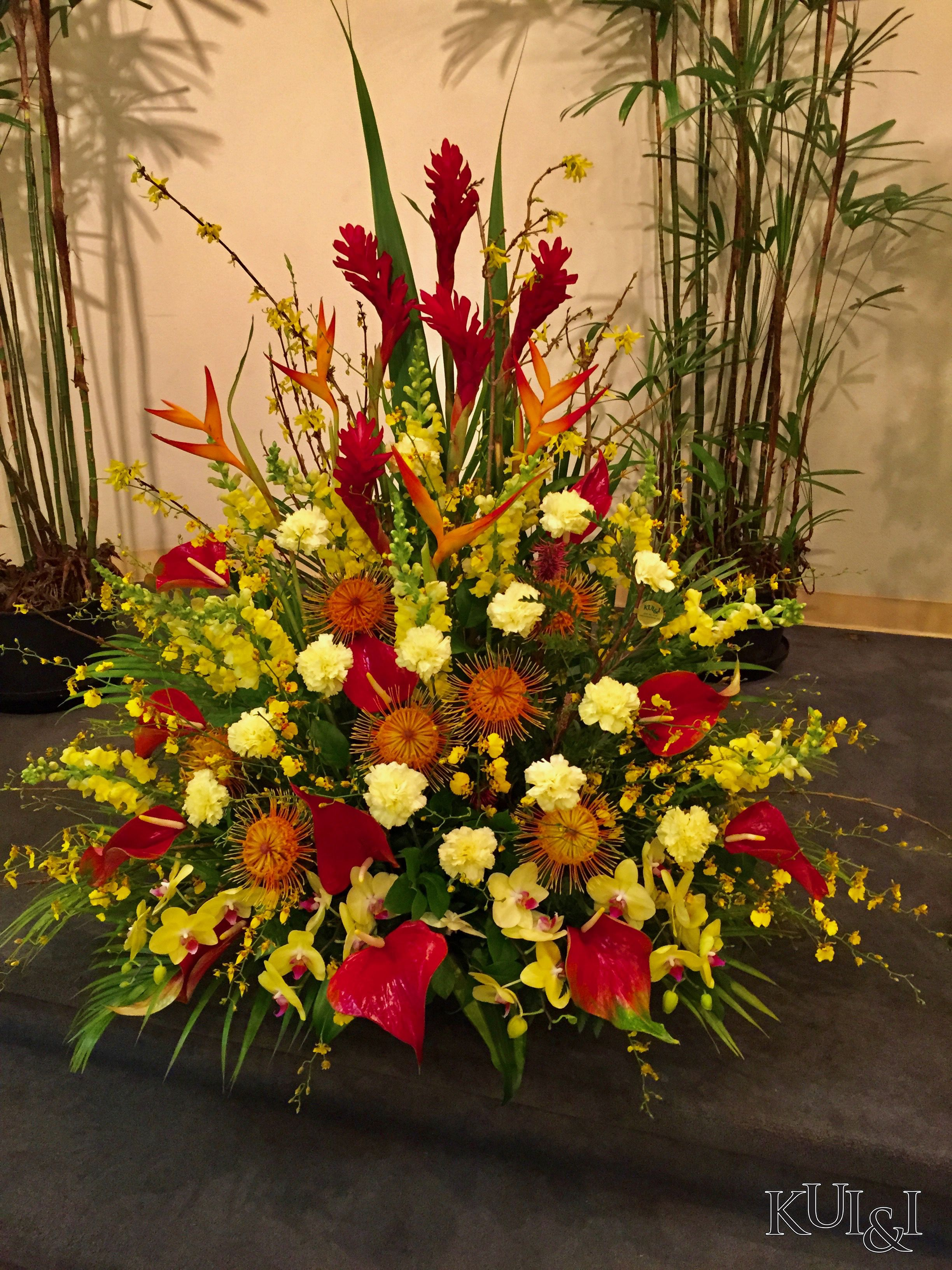 Tropical Sympathy Arrangement Kui & I Florist, Llc Hilo, Hawaii