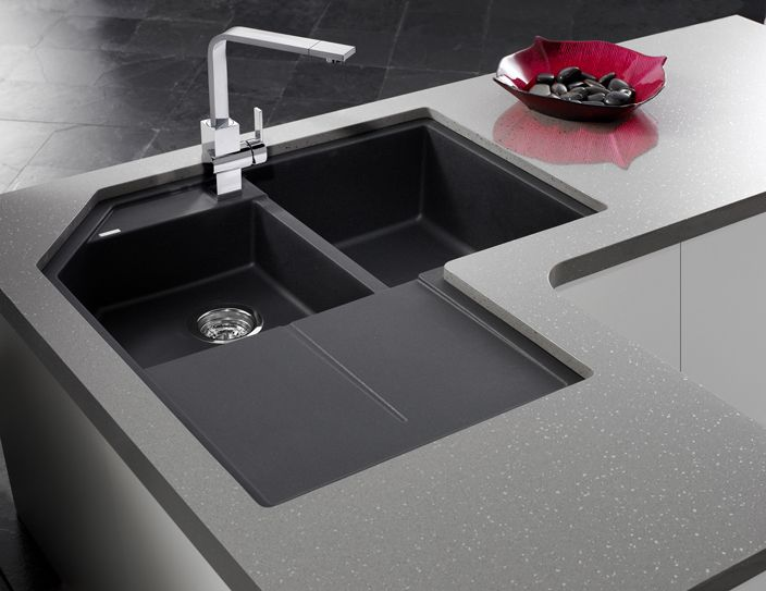 Blanco Metra Corner Sink In Silgranit Anthracite Corner Sink Kitchen Corner Sink Kitchen Sink Design
