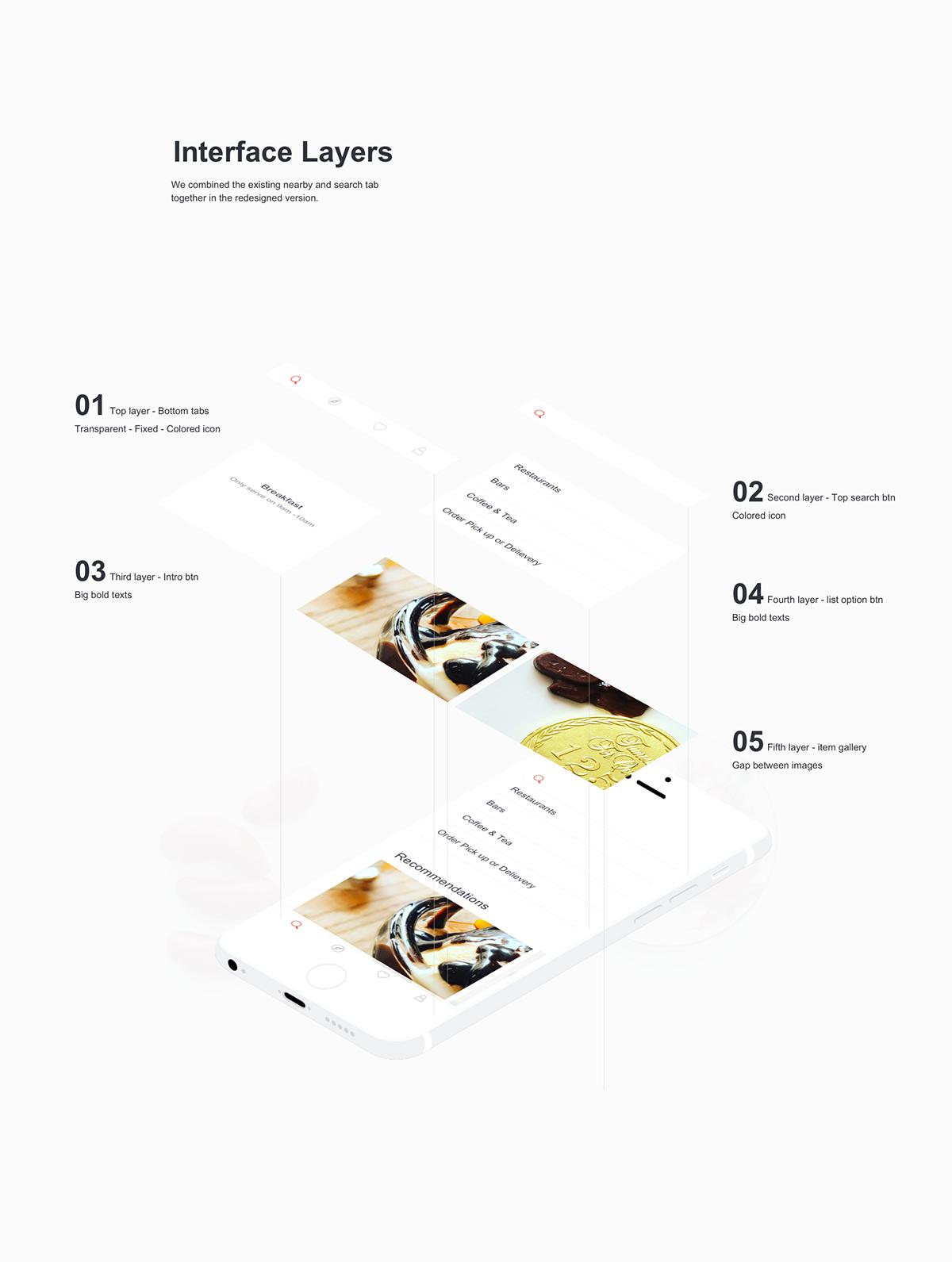 Yelp App Redesign on Behance Yelp app, App, Redesign