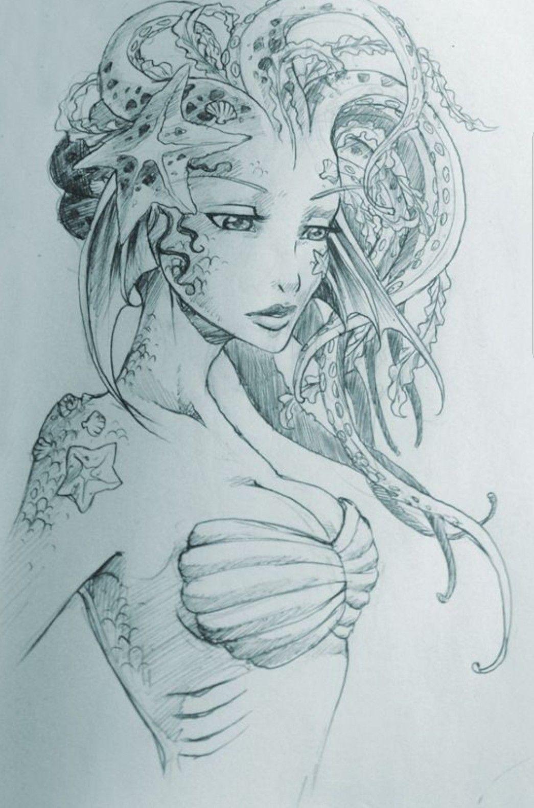 Mermaid tattoo idea