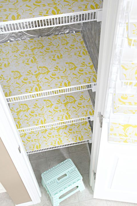 Paper Lined Pantry Shelves Shelf Liner Wire Shelving Home