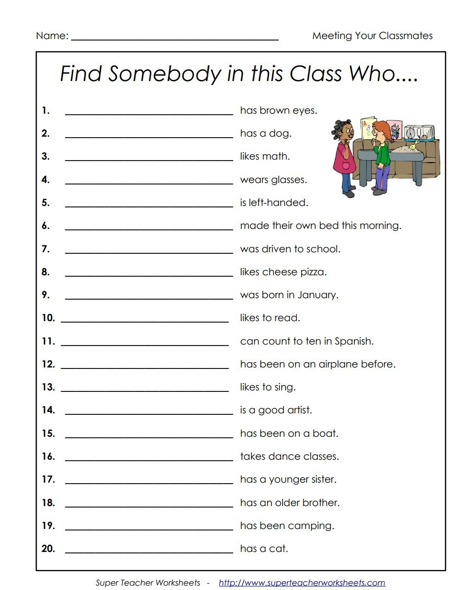Find someone who.. worksheet With images   Band ...