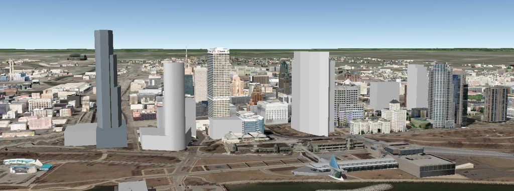 Downtown Lakefront Skyline W Johnson Controls Tower Couture And Bad Nwm Model Milwaukee
