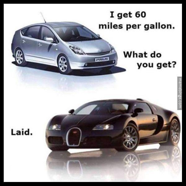 Prius Vs Bugatti >> Toyota Prius vs Bugatti Veyron. http://mbinge.co/1AOpHoA | The Official Meme Binge | Pinterest ...