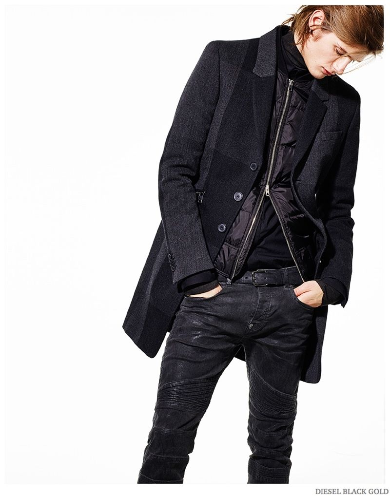 Diesel Embraces Leather & Studs for Pre Fall 2015 Collection image Diesel Black Gold Men Pre Fall 2015 Collection Look Book 005