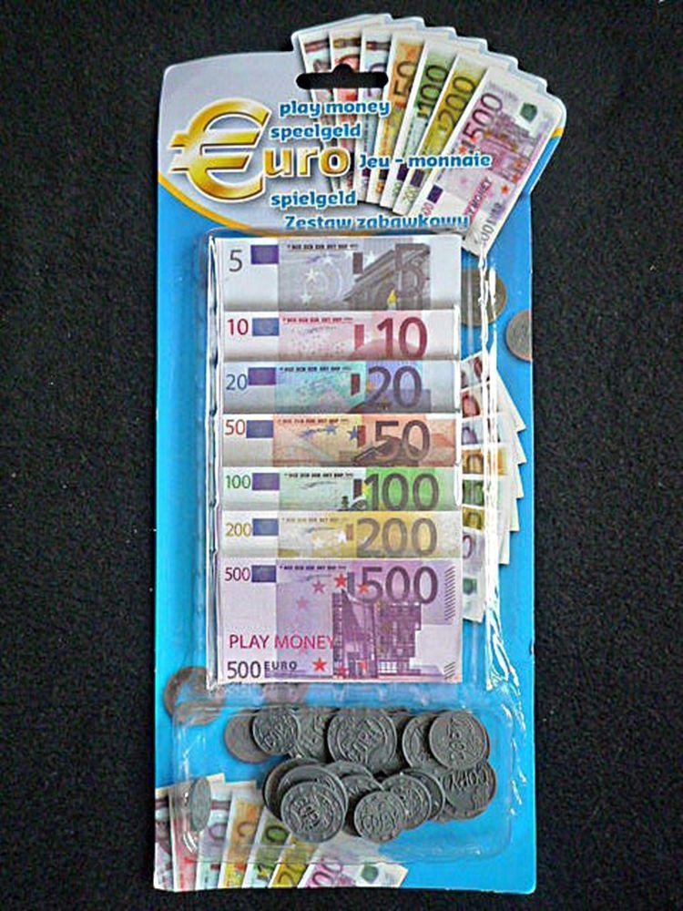 Spielgeld Euro Spielgeld Münzen Und Geldscheine Im Set