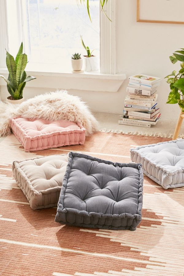 Washed Corduroy Floor Pillow Urban Outfitters Canada In 2020