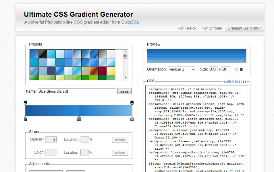 Ultimate CSS Gradient Generator Css tutorial
