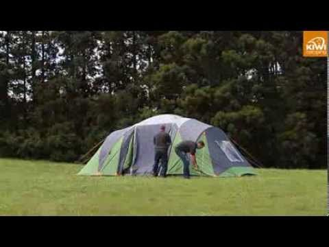 How to pitch a Kiwi C&ing Takahe 6 Dome Tent. & Kiwi Camping Takahe 6 Dome Tent - Pitching Video | Dome Tents ...