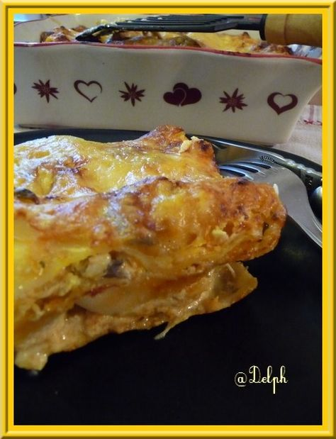 Lasagnes poulet - champignons | Lasagne poulet