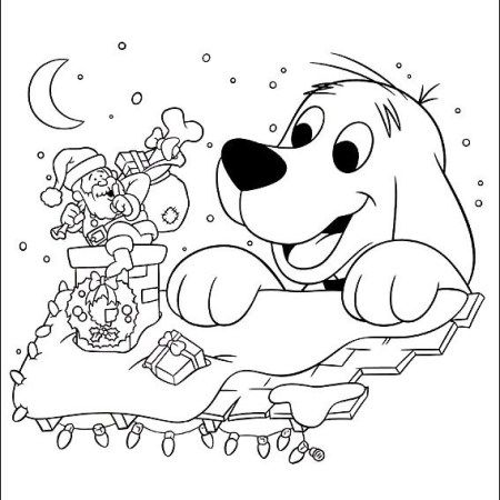 Clifford Christmas Coloring Picture 1 Online Coloring Pages Coloring Pages Online Coloring