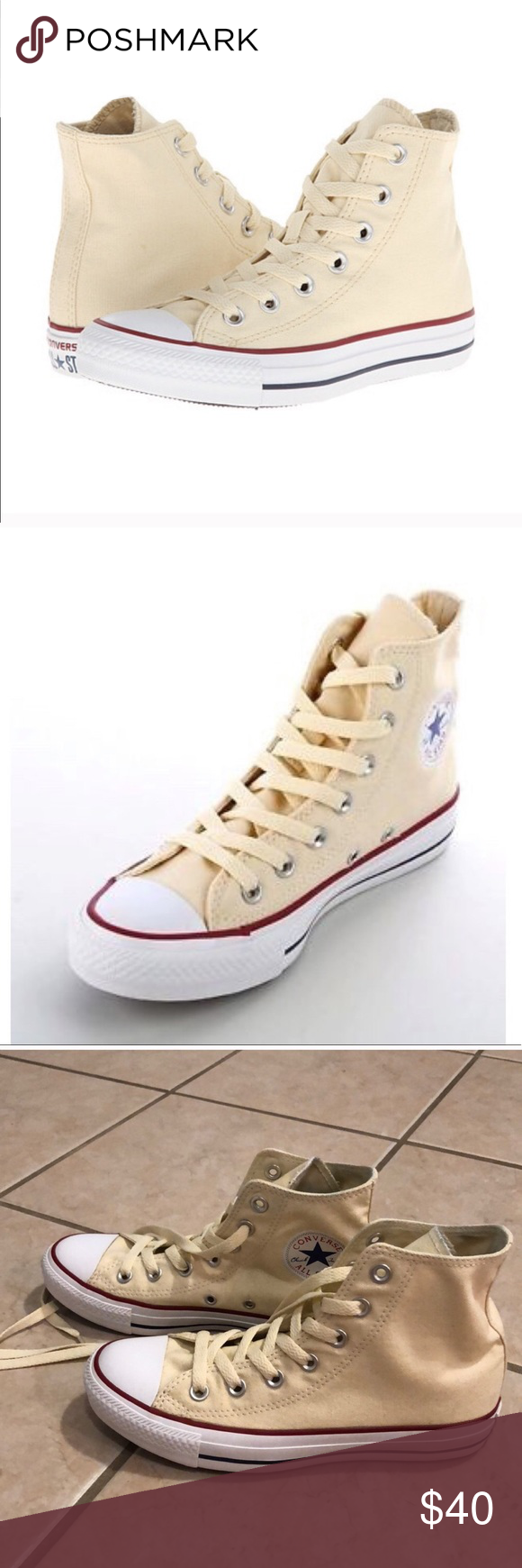 Converse high tops in Natural White