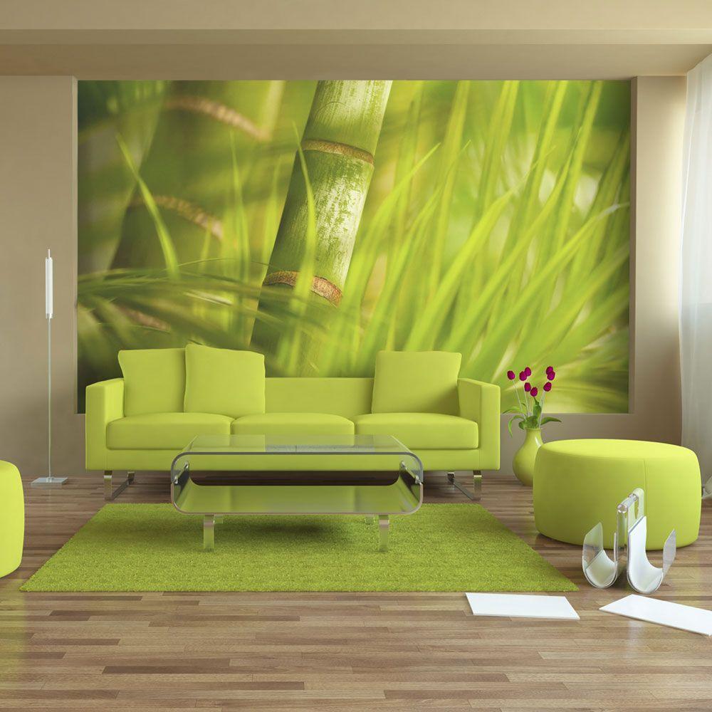 Papier peint BAMBOU NATURE ZEN | Artgeist | | Papier peint bambou, Papier peint, Mobilier design