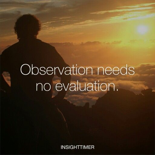 Observation needs no evaluation.   #wisdom #quote #life #spirituality #insight #mindfulness
