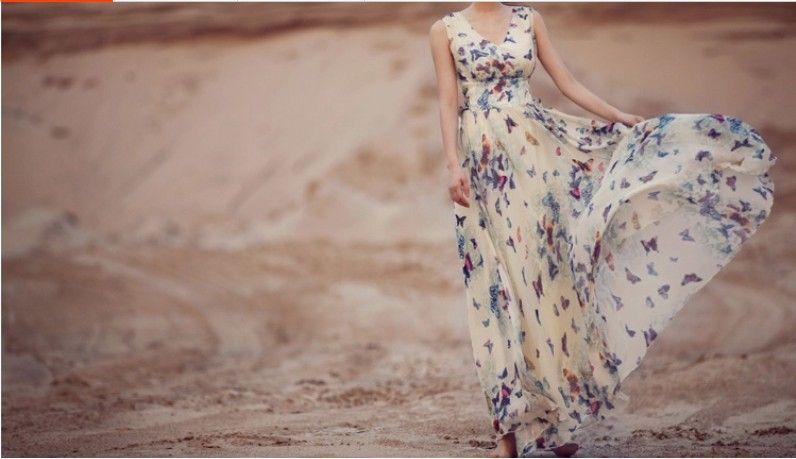 Vestido verano con mariposas