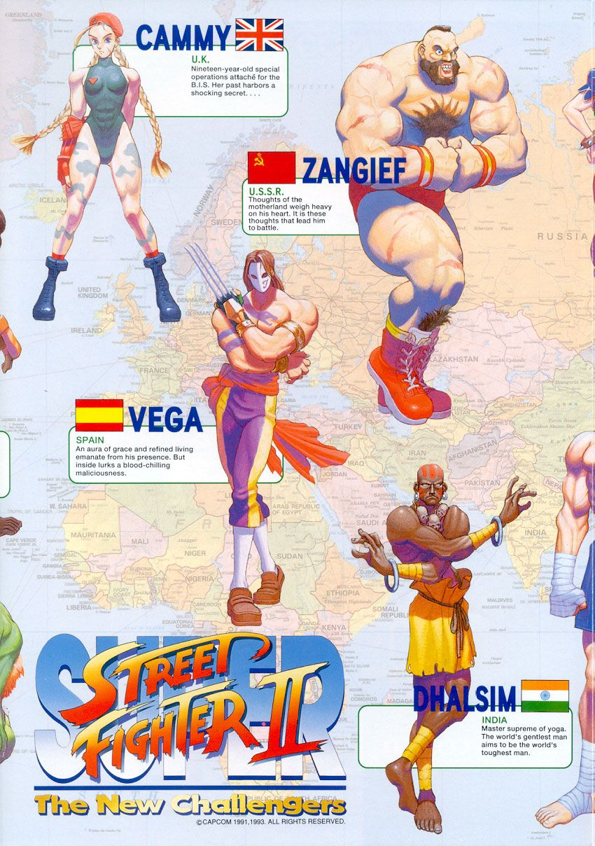 Street fighter 2 personnage