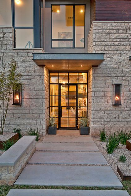 Modern Exterior By Cornerstone Architects 15 Front Doors With Personality